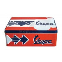 Vespa koekblik/opbergblik horizontaal, Vespa box collection, bruin/oranjekleurig