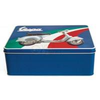 Vespa koekblik/opbergblik horizontaal, Vespa box collection, kleurig