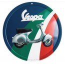 Vespa decoratie, Vespa box collection, tin plate rond, kleurig