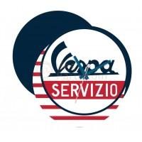 Wandklok 'Vespa Servizio'
