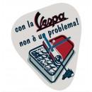 Wandklok Vespa Servizio, 'con la Vespa non è un problema!'