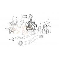 09: Carburateurkoelkap Nsl Fcs Tec ET2/LX/LXV/S/Primavera 50 2T/Sprint 50 T