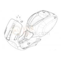 03: Voorscherm Vespa Primavera/Sprint 50 2T Metaal Ongespoten