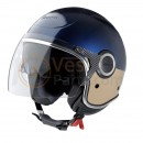 Vespa Helm VJ blauw 222A / beige