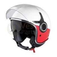 Vespa Helm VJ wit 544 rood