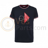 T-shirt Vespa Modernist Donkerblauw