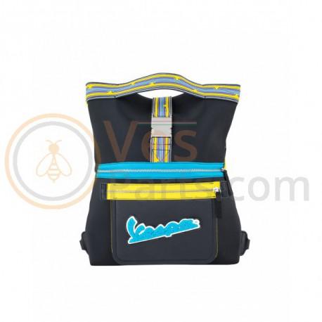 Vespa V-Stripes Tote Bag Zwart/Geel