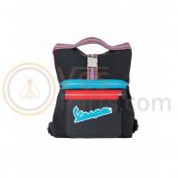 Vespa V-Stripes Tote Bag Zwart/Rood