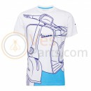 Vespa Young Man T-shirt Wit/Blauw