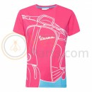 Vespa Young Woman T-shirt Roze/Blauw
