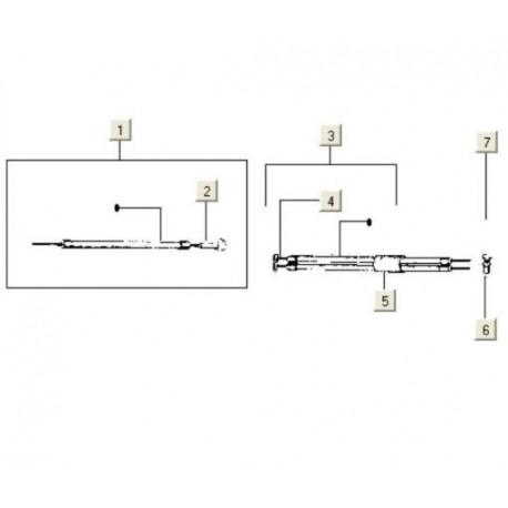 Versnellingskabel Vespa Pk50 compleet