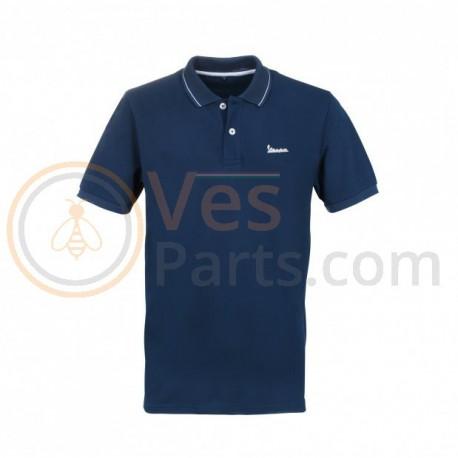 Vespa Grafische Polo Donkerblauw
