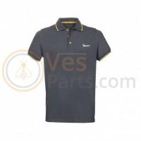 Vespa Grafische Polo Grijs/Geel