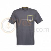 Vespa Grafische T-shirt Grijs/Geel
