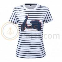 Vespa Grafische T-shirt Blauw/Wit