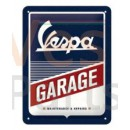 Metalen Bord Vespa Garage