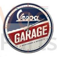 Wandklok Vespa Garage