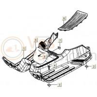 Vespa scooter Lx/S voetplank/treeplank spuitklaar (blank)