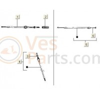 Kilometerteller kabel compleet Vespa PK50 V5X-V8X-V5P-VA5