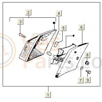 Achterlichtglas V5X3 (PK50XL-B)