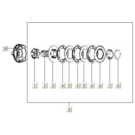 Steunkoppeling  V5X3/VMX5