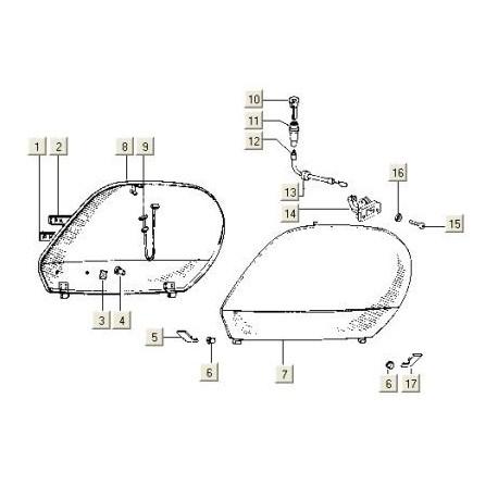 Motorscherm Links PK50 V5X-3T /V5N