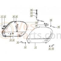 Motorscherm Rechts PK50 V5X-3T /V5N