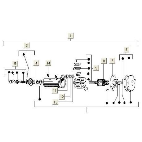 Startmotor C80-V5X-VAM