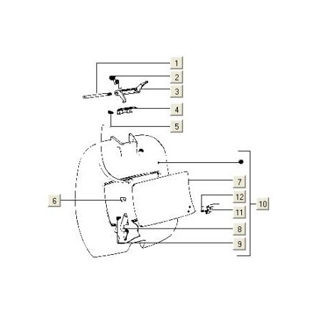 Beenschildkofferdeksel V5N-V5P PK50