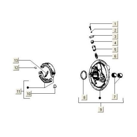 Remankerplaat (voor) V5N-V5P-V8X PK50