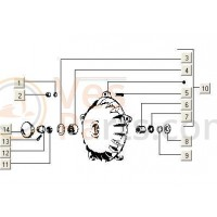 Remtrommel VA5-V5P-V5N-VAM PK50 (voor)
