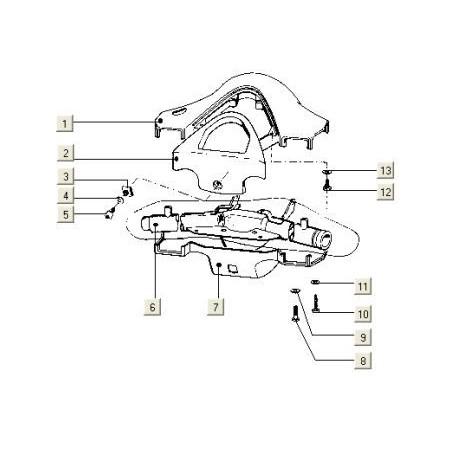 Stuurkapplaat V5P (V5N) PK50 (KM-KLOK)