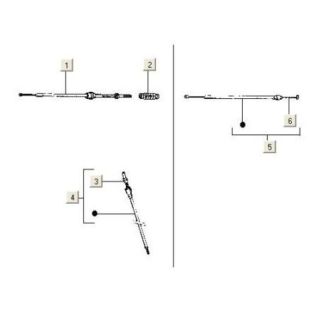 Kilometer teller kabel Vespa PK50/125