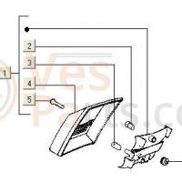 Achterlichtglas V5N-V5P PK50