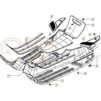 Voetplankrubber midden Vespa S/LX/LXV