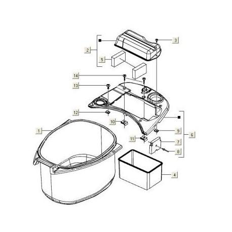 Helmbak Vespa ET/S/LX/LXV