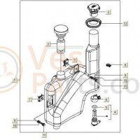 Olietankdop Vespa S/ET2/LX/LXV