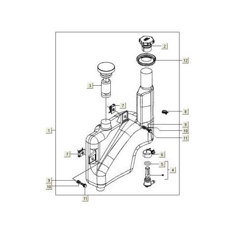 2. Olietankdop Vespa S/ET2/LX/LXV/Primavera 50 2T/Sprint 50 2T