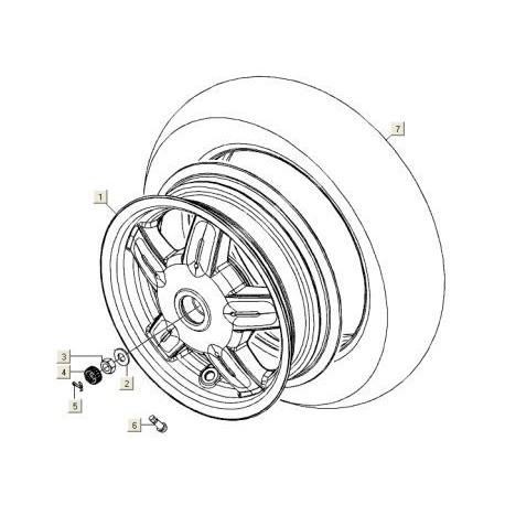 Buitenband 120/70x10 Michelin