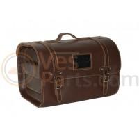 Topkoffer Achter/voordrager bagage Tas Custom bruin (leder)