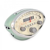 Radio Alarmklok/Wekker Vespa groen snelheidsmeter