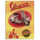 "Plaat Vespa ""Pin up"""