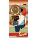 Vespa Schilderij op Plexiglas 'wit' (50x100)