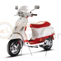 Vespa scooter Stickerset College rood