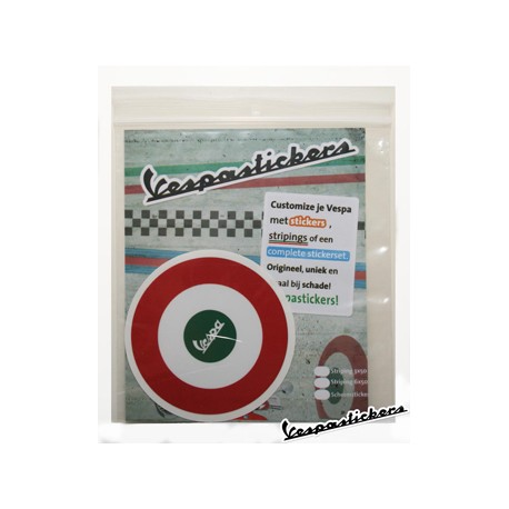 Vespa scooter sticker Tricolore Italie rond target