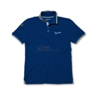 Vespa Heren Polo original blauw
