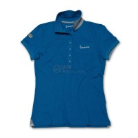 Vespa Dames Polo original blauw