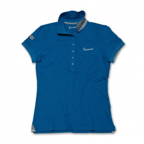Vespa Dames Polo original blauw