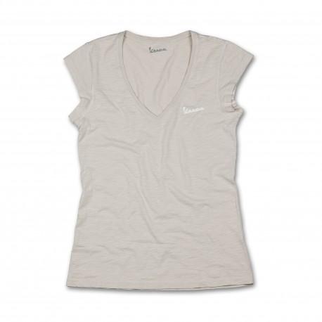 Vespa Shirt original dames lichtgrijs