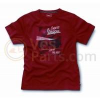 Vespa Heren T shirt Stampe Rosso